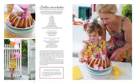 Ur kapitlet om barnkalas - receptet på Stellas citronkaka...